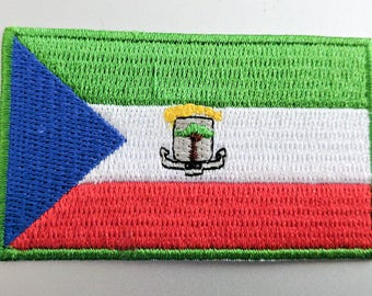 "Small Equatorial Guinea Flag Iron On Patch 2.5"" x 1.5"" inch Free Shipping"