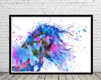 Horse, andalusian horse, watercolor print, watercolor horse, animal print, horse art, horse art, horse,