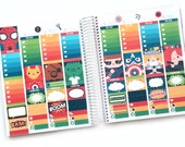 Superheroes Planner Stickers Weekly Kit - For use with Erin Condren Vertical Lifeplanner
