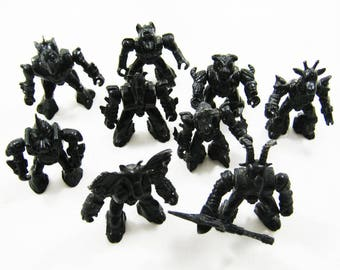 Robozveri, Monsters, Biotrans,Collection of 9 Toy Soldiers,figures plays, vintage, antiques of the USSR
