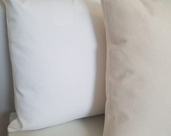 10 16x16 - 10oz WHITE or NATURAL Cotton Canvas Pillow Cover Blanks - Wholesale Lot of 10 - Perfect For Stencils, Painting, Embroidery, HTV