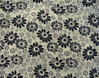 """Dress Fabric, Floral Print, Cotton Fabric, Quilt Material, Home Accessories, Sewing Fabric, 43"""" Inch Designer Fabric By The Yard ZBC7107A"""