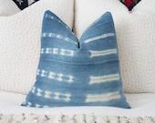 Light African Indigo Pillow Cover 18x18