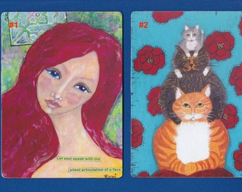 Large Magnet Art - Mixed Media Art - Choose From Several Images