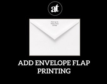 Envelope Flap Printing Return Address Printing Up To Three Lines Of Text