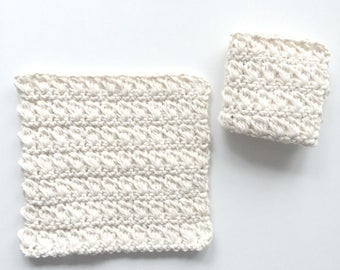 Crochet Cotton Dishcloth made with 100% recycled cotton | kitchen accessories | cleaning supplies | eco-friendly