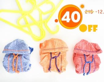 Pug clothes - orange hoodie. Big sale!