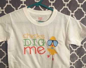 Chicks Dig Me Easter Infant/Toddler tshirt