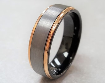 tungsten ring mens tungsten wedding band mens rose gold wedding band rose gold