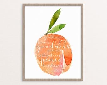 Fruit Of The Spirit Digital Print 8x10