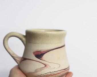 nemadji pottery / nemadji coffee mug / vintage nemadji / vintage Native American pottery / vintage coffee mug