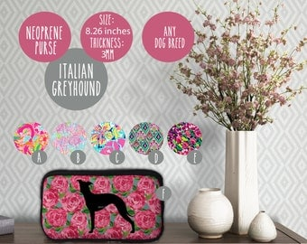 Italian Greyhound Neoprene Purse