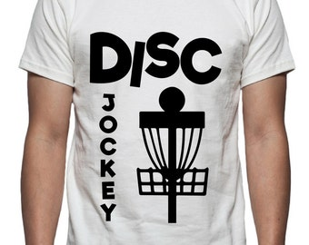 Disc Jockey Disc Golf Tee Shirt Design, SVG, DXF, EPS Vector files for use with Cricut or Silhouette Vinyl Cutting Machines