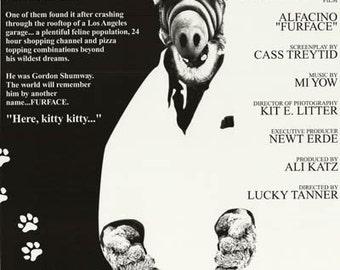 Alf  Alfacino Furface 1987 Rare Vintage Poster