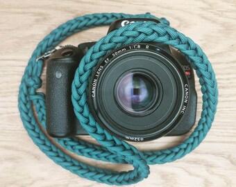 Paracord Camera Neck Strap - PGUK - Metal Clips - 77 Colours - Camera Strap - Photographer Gift - EDC - Strap - Woven Strap - DSLR Straps