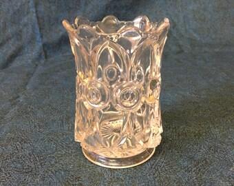 Vintage Clear Pressed Glass Celery Vase