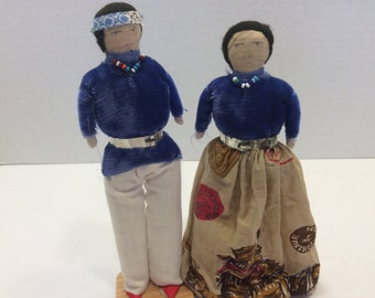 Grand Canyon in Arizona Dolls Vintage 1968 handmade with original Costumes