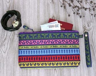 Bright travel passport cover for women, fabric passport travel wallet, cotton travel accessories holder wallet  - Free Shipping Worldwide