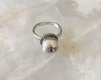 Lavender Cavity Tooth Ring