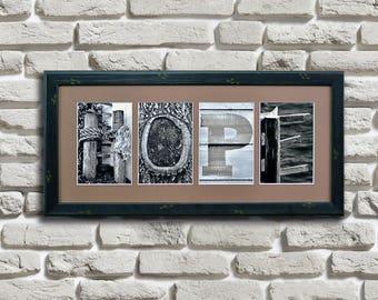 Hope Letter Art, Inspirational Letter Art, Faith, Hope and Love, Inspirational Gift