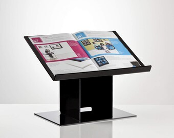 Recipe Book Stand | Desktop Lectern | Freestanding Notebook Holder | Premium Perspex Acrylic | Made in the UK