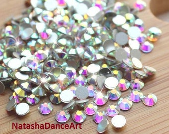 72 pcs - 144 pcs  flat back rhinestone crystal AB -No Hotfix- available in ss16 ss20