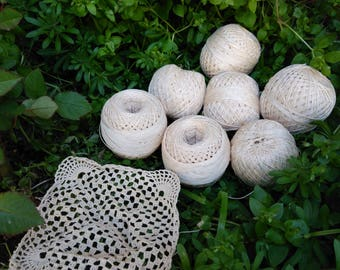 Vintage  Crochet Yarn / yarn for knitting / Crocheting Yarn / Crochet Thread / Knitting Supplies / Balls Crochet Yarn / Crochet Lace Thread