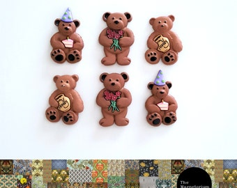 Celebration Bears Fridge Magnet Set