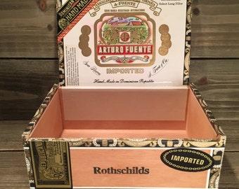 Vintage (1990's) Arturo Fuente Rothchilds Wooden Cigar Box