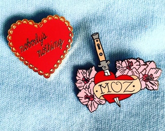 SALE! Moz Lover Combo Pack! *Two* Morrissey Enamel Pins.