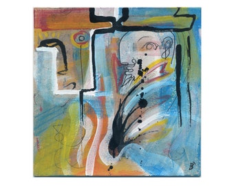 "Image ""Dream"" 15/15 cm (5.9/5.9 inch) painting dreamlike, beautiful colors"