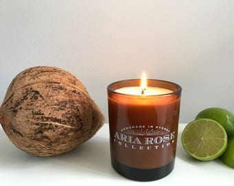 Coconut & Lime Scented Soy Candle - 9 oz