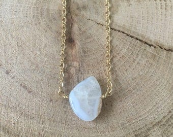 Periwinkle Agate Stone Necklace