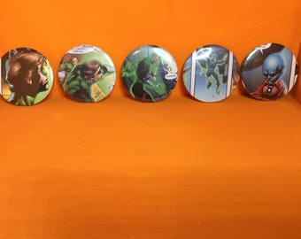Green lantern 58mm badges