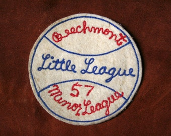 Vintage Beechmont Little League/Minor League 1957 Baseball Sew-on Patch