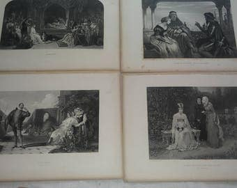 10 1860s William Shakespeare engravings