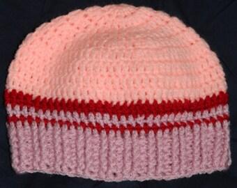 Crochet baby girl boy hat Baby Bonnet handmade crocheted hat newborn gift newborn girl / 3 months / 6 months hand knitted ready to ship