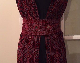 Long embroidery jacket / vest