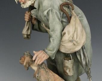 "Capodimonte Giuseppe Cappe Figurine ""Tramp and Scamp"""