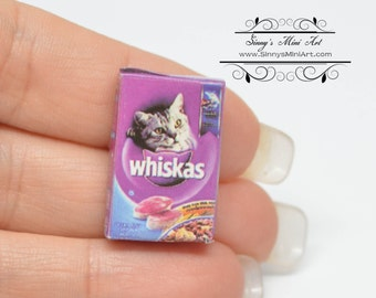 1:12 Dollhouse Miniature Boxed Cat Food/ Miniature Supply D99
