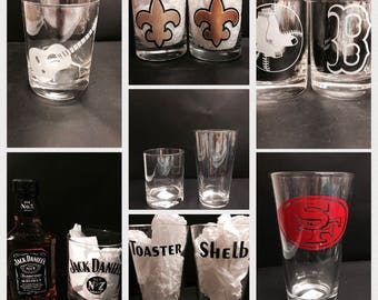 Whiskey Glass Decal Etsy - Custom vinyl decals for glass