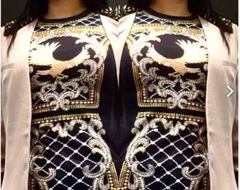 Blouses Gold and Black Woman