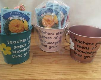 TEACHERS GIFT, teacher flower pot, gardening gift,