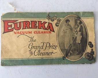 Vintage Eureka Vacuum Cleaner ad