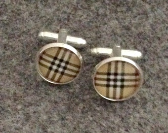 cuff links/ bouton manchette/ 14 mm/ PLAID