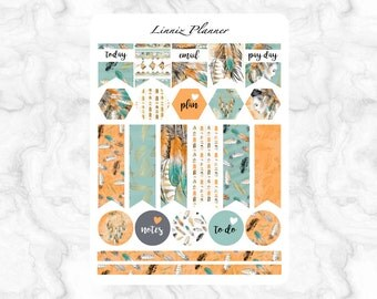 Native Flags (matte planner stickers, Filofax, Kikki K, Websters Pages, Color Crush)