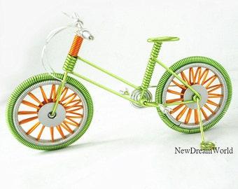 Miniatuur fiets etsy for Metalen decoratie fiets