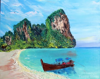 """140 Oil painting on canvas by Tanya Shest -Bewitching Thailand- Size: 16"""" X 20"""" Inches (40 cm x 50cm)"""