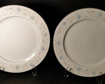 "Fine China of Japan English Garden 1221 Dinner Plate 10 1/4"" TWO EXCELLENT!"
