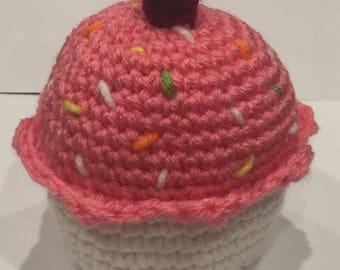 Fun Crochet Cupcake